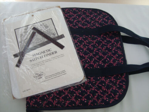 Cross Stitch/Embroidery/Needlepoint Quilted Tote Bag & Magnetic Stitch Finder