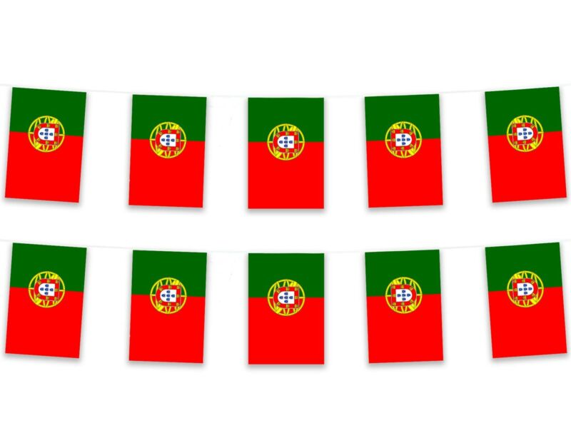 5m/16ft Polyester Portugal Bunting Pennant Banner Portuguese Europe Football