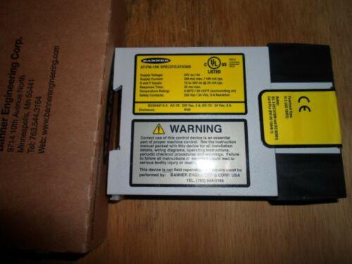 BANNER AT-FM-10K / 60698 SAFETY RELAY (NEW IN BOX)