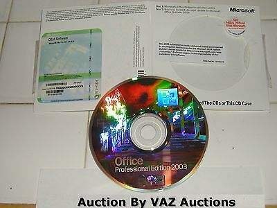 Microsoft Office 2003 Professional Word Excel Access Outlook Powerpoint  New