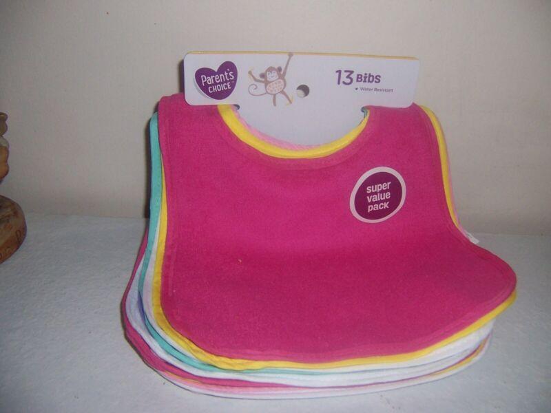 Parents choice 13 pink girlish bibs  New