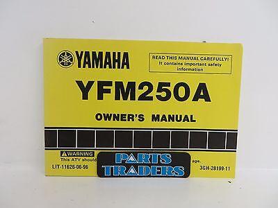 NOS Genuine Yamaha Owners Manual YFM250A YFM250 Moto-4 1990 90 LIT-11626-06-96
