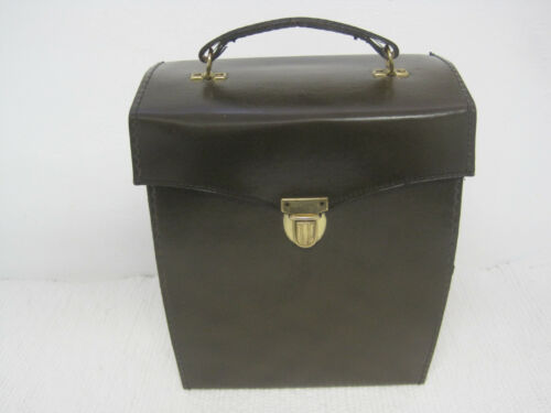 Vintage HOMA Brown Hard Shell Leather Binoculars Case  Ex +   FAST SHIPPING!!