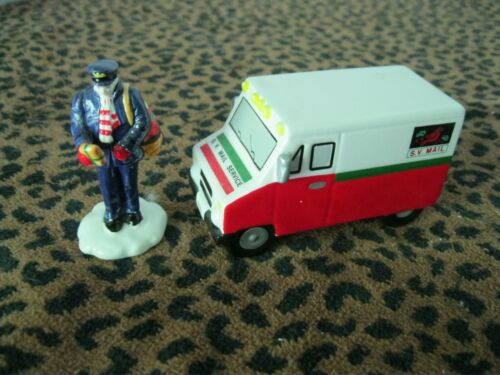 Dept. 56  Snow Village 1989 Special Delivery 2 Pc. Mailman & Mail Truck #5148-9
