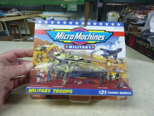 HO FIGURES- MICRO MACHINES MILITARY TROOPS  PKG OF 14
