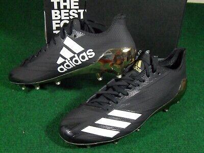 New Adidas SM Adizero 5 Star 6.0 NFL TD Low Football Cleats Black Gold BW1435