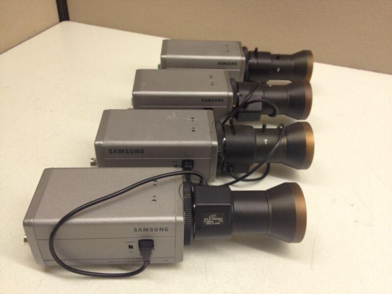 LOT of 4 Samsung SCC-130B Color CCTV Camera w/ 5-100mm Extra Long Range Lens