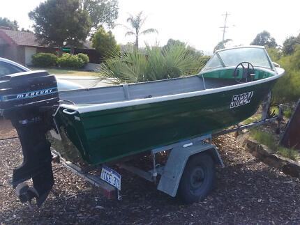 Aluminium Boat + Motor ono