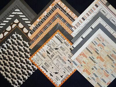 12x12 Scrapbook Paper Cardstock Happy Haunting Vintage Halloween Skeleton MME 24 Cardstock 12x12 Scrapbook Paper