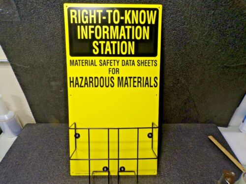 "Right To Know Information Station, 30"" X 16"""