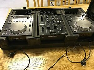 Pioneer DJ decks CDJ's & MIXER + adm-5 reloop speakers Kialla Shepparton City Preview
