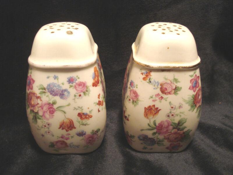 Vintage....Large.....Flowered.....Salt & Pepper Shakers....Germany