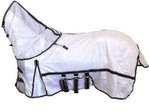 AXIOM WHITE SOFT MESH FLYSHEET RUG WITH BELLY GIRTH & NECK RUG SET - 5' 3