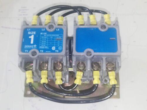 Gould M113C Reversing Contactor Motor Control - 120VAC Coil, 10HP, 30A, 600VAC