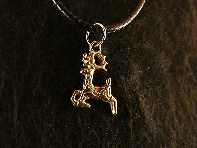 t Kette 24 Karat Vergoldet Gold Reindeer Reh Hirsch Elch (Rentier Behandelt)