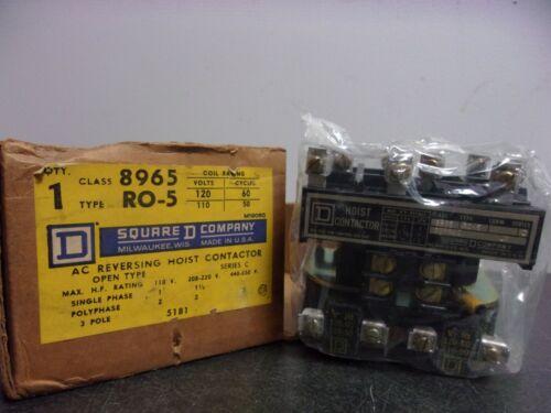 8965RO-5 SQUARE D AC REVERSING HOIST CONTACTOR