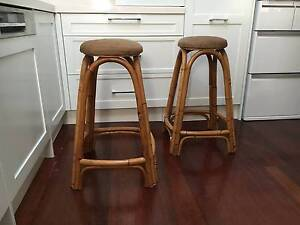 Bar stools  x 2 - solid and comfortable Lilyfield Leichhardt Area Preview