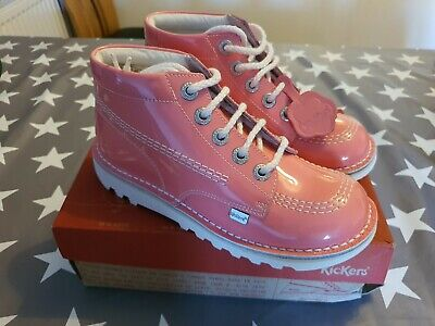 KICKERS GIRLS BOOTS IN PINK UK SIZE 2.5 BRAND NEW