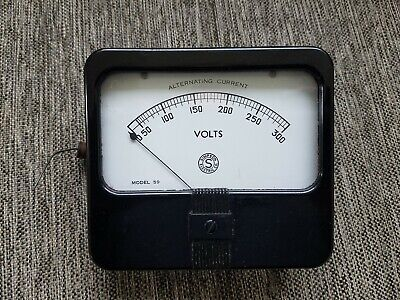 Vintage Simpson Model 59 Volt Meter Instrument Panel Gauge