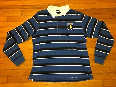 Abercrombie & Fitch A&F Polo Rugby Vintage Blue BlackSweatshirt Men's L Muscle