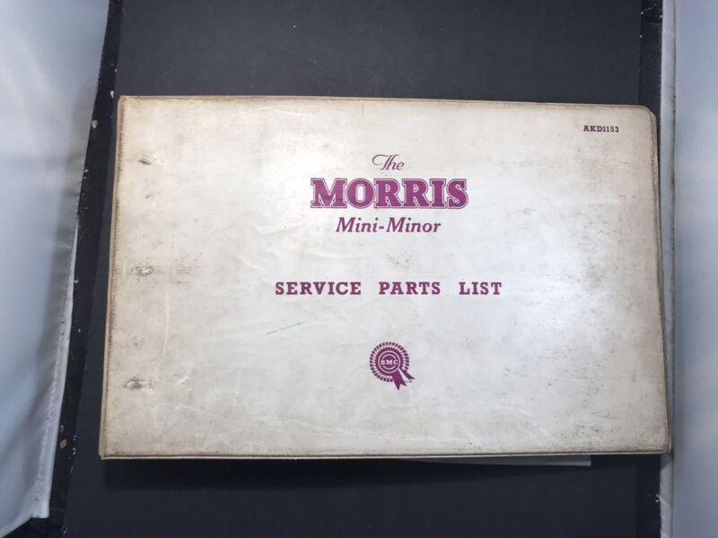 Morris Mini Minor Service Parts List Second Edition
