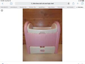 Little tikes bassinet et chaise haute à la recherche