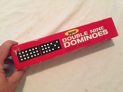 VINTAGE 1960s Jaymar DOUBLE NINE DOMINOES Complete Box Set
