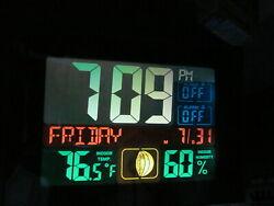 La Crosse Color Dual Alarm Clock Thermometer Humidity USB Charging Port C87207