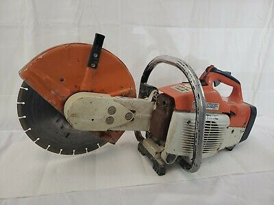 Stihl Ts 400 Concrete Saw - Used Tested - Runs Idles Good.