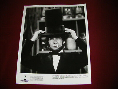 TV Promotional Photograph/The Tonight Show 1983/Johnny Carson Abraham Lincoln