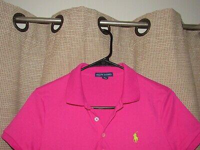 RALPH LAUREN dress womens sz medium hot pink cotton short sleeved pony
