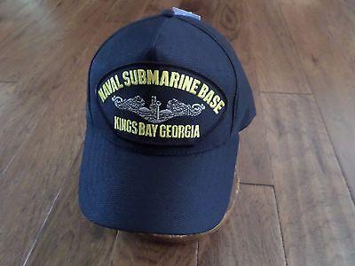 NAVAL SUBMARINE BASE KINGS BAY GEORGIA HAT OFFICIAL MILITARY BALL CAP USA MADE