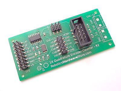 1x Quadrature Encoder Counter - Spi Interface For Raspberry Pi And Arduino - Smd
