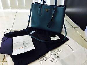 Prada Saffiano Cuir Aviazione Medium Double Bag East Melbourne Melbourne City Preview
