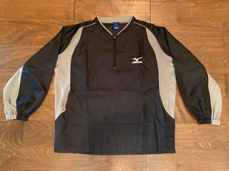 Boy's Mizuno Black Baseball Jacket Windbreaker Size Youth XL