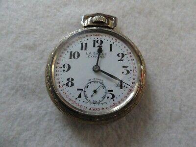 Swiss Made 21 Jewels La Salle Express Mechanical Wind Up Pocket Watch