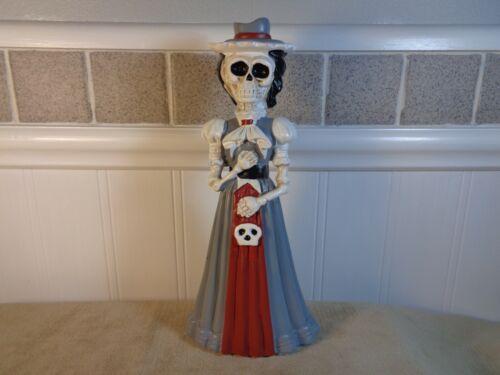 """DAY OF THE DEAD 7"""" WOMAN SCHOOL TEACHER GREY DRESS FIGURE (ML233)"""