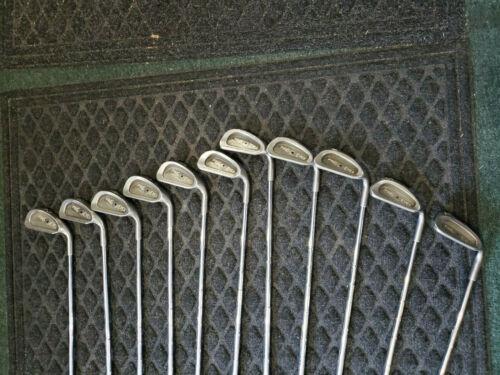(11) Ping Eye 2 Black Dot Iron Set 2,3,4,5,6,7,8,9,W,SW,LW Steel Shaft RH #2