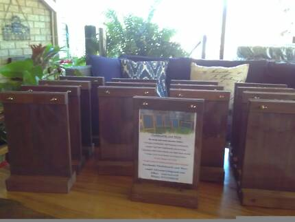 Timber A4 Free Standing Menu Board Specials Restaurant Cafe