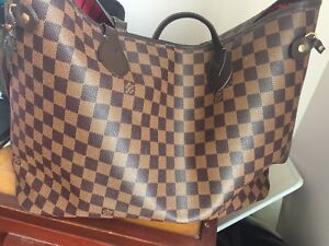 Louis Vuitton Neverfull New Mm Red Lining Canvas / Leather Tote