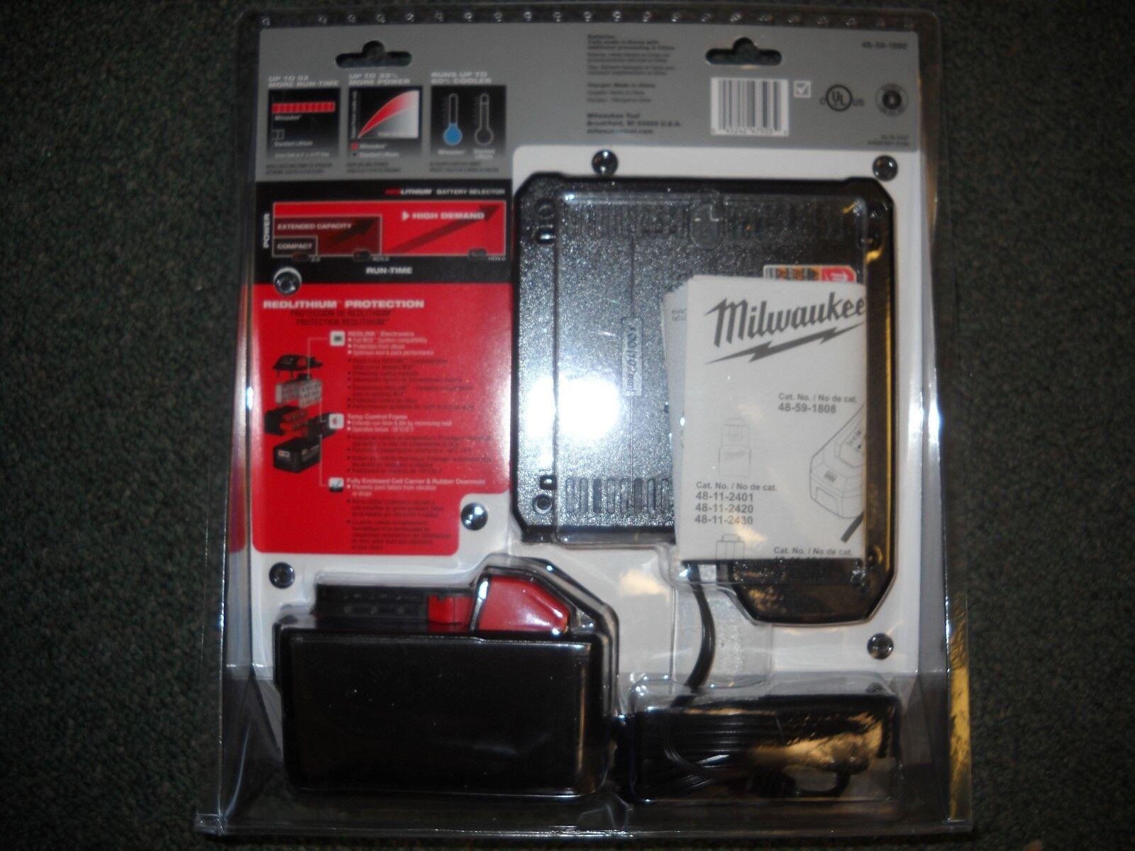 Milwaukee 48-59-1890 M18 REDLITHIUM HD 18V 9.0 Ah Li-Ion Battery Starter Kit NEW 2