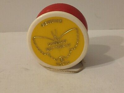 Vintage Genuine Duncan Butterfly Yo-Yo Yellow Red and White
