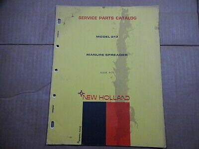 New Holland 213 Manure Spreader Parts Catalog Manual 472