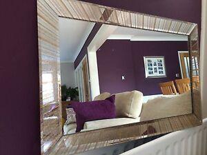 Star Gold Glitter mirror Frame Glass living room lounge bedroom wall 40x60cm