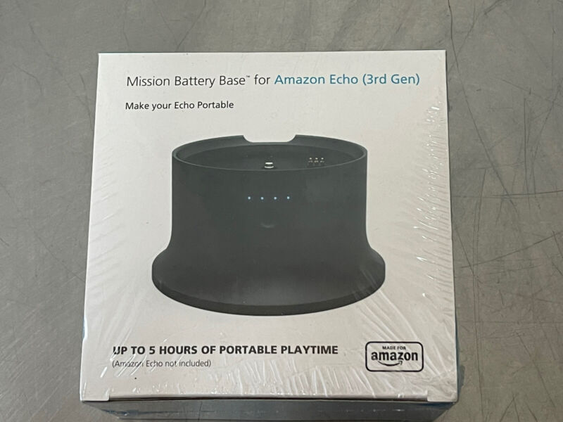 MISSION BATTERY BASE for AMAZON ECHO 3rd GEN BRAND NEW!!!!