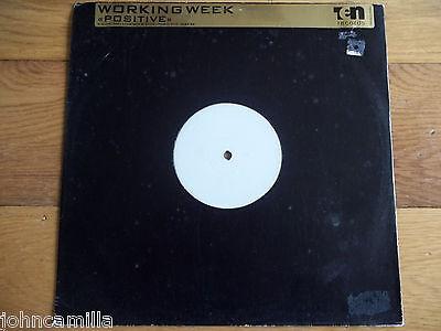 "WORKING WEEK - POSITIVE 12"" RECORD / VINYL - 10 RECORDS - TENX 340 DJ"
