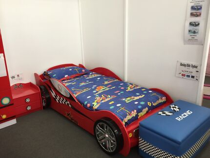 "NEW ""BAMBINO RACER""  SINGLE BED CAR BED"