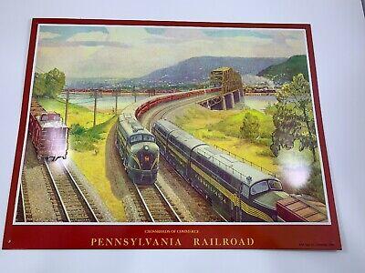 Vintage Crossroads Of Commerce Pennsylvania Railroad Sign. AAA Sign Company. USA