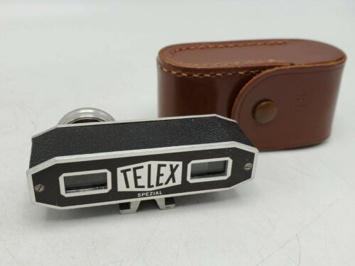 Vintage Telex Spezial Shoe Mount Camera Rangefinder Finder w/ Case