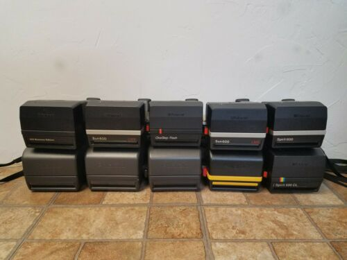 Lot of 10 Polaroid Film Camera Tested Working